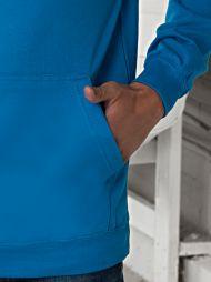 Sweat à capuche Contrast personnalisé bleu